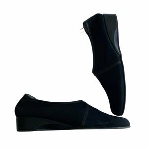 Taryn Rose Kelsey Microfiber Slip-On Shoes Black